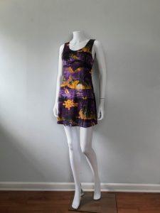 Vintage 90s dress Hawaii print mini dress