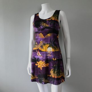 Vintage 90s dress Hawaii print mini dress